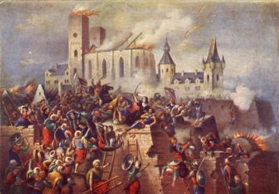 Pintura Asedio Fortaleza de Eger (www.felsofokon.hu)