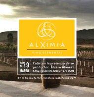 Cata: Alximia en Tienda Vinísfera #GDL