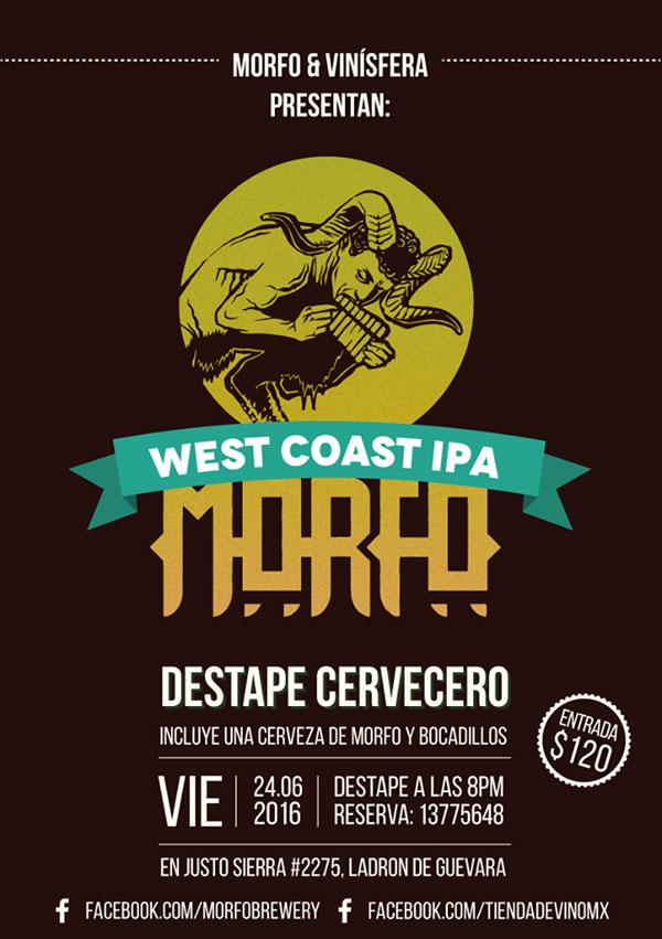 #GDL: Destape de Cerveza Morfo West Coast IPA