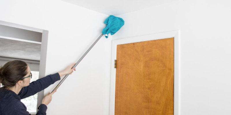 como limpiar un cielorraso de pvc