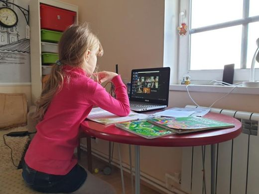 In the time of COVID 19: Online classes at home - St. Petersburg Russia