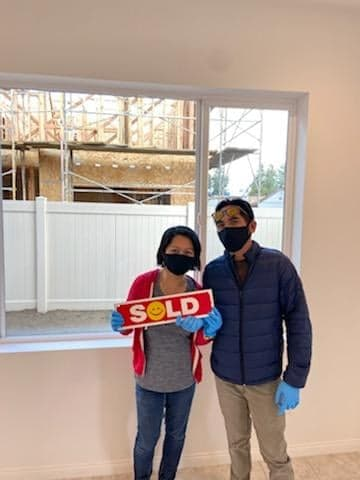 In the time of COVID 19 - house shopping wearing mask and gloves (California, USA)
