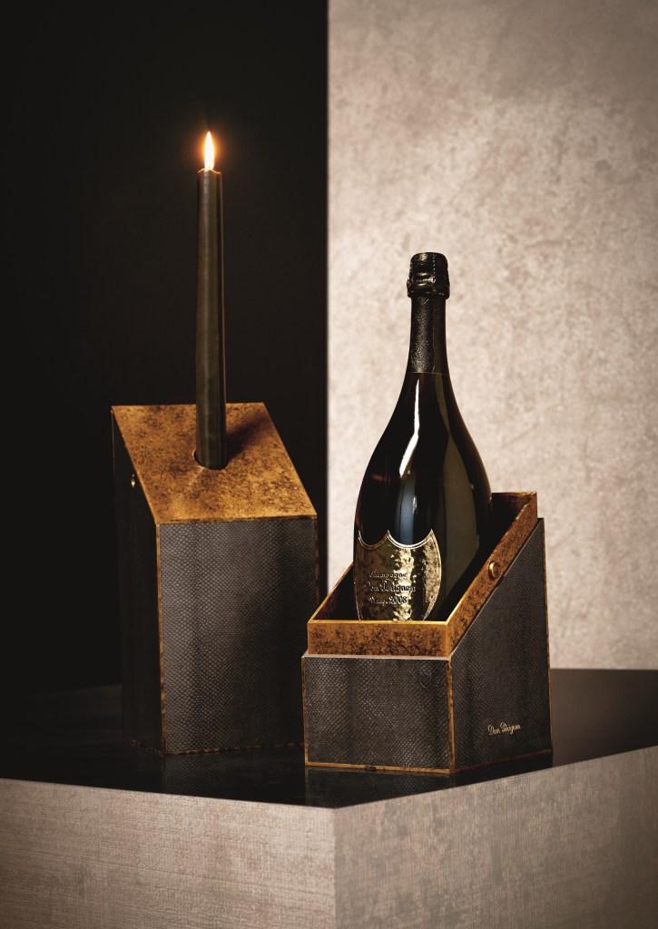 candelabra git box with 2008 magnum Champagne