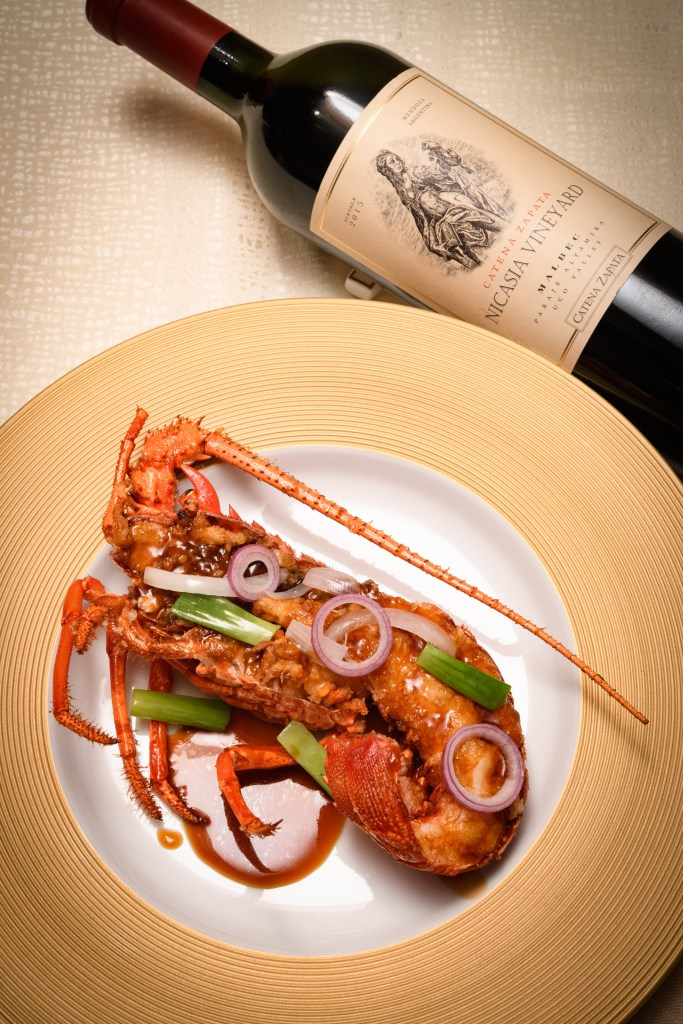 baked lobster with nicasa (pic: Vino Joy News)