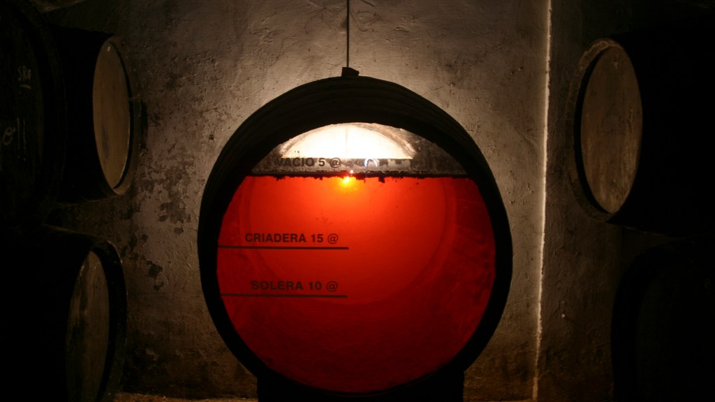A sherry wine barrel in an old cellar in Jerez (Spain) pic: (iStock)