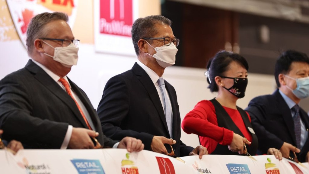 Opening ceremony of ProWine Hong Kong 2021 (pic: ProWine0