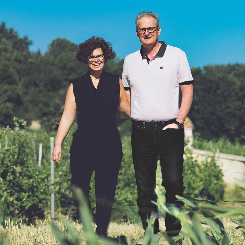 Anne Charlotte Melia-Bachas and her husband Laurent  Bachas today runs the estate (picture supplied by ASC Fine Wines)