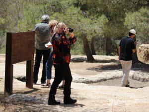 Tourists at ancient gat