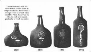antic glass bottles