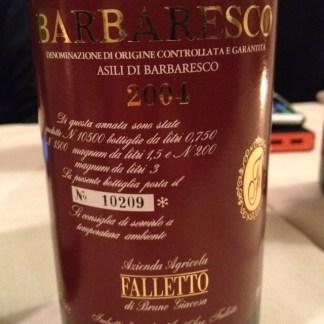 Barbaresco Riserva Asili 2004 - Azienda Agricola Falletto (Bruno Giacosa)