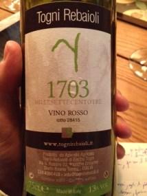 Vino Rosso 1703 - Togni Rebaioli