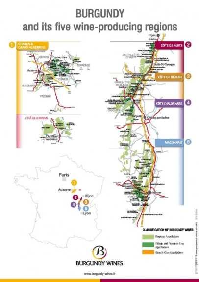 Cartina Borgogna
