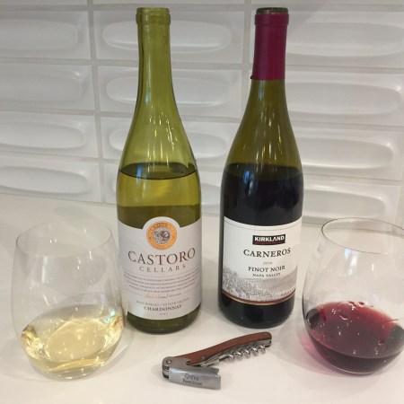 2015 Castoro Cellars Paso Robles Chardonnay & 2016 Kirkland Signature Carneros Pinot Noir Napa Valley
