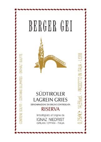 Vinopolis - Tenuta Ignaz Niedrist - Lagrein Greis - Berger Gei Reserva