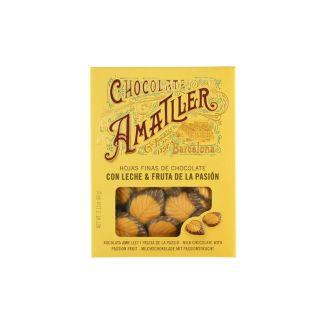 chocolate amatller hojas fruta pasión