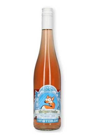 Weinflasche - Listiger Fuchs - Rosé - Portugieser - halbtrocken
