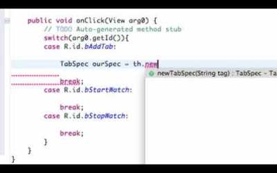 Android Application Development   86   Creating Tabs in Java