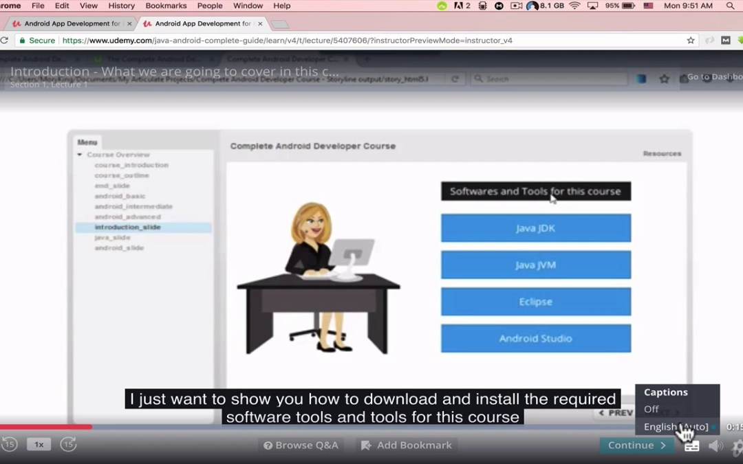 Java&Android Development for beginners: 94 Hours+ & 84 Apps : Watch Videos in HD Quality!