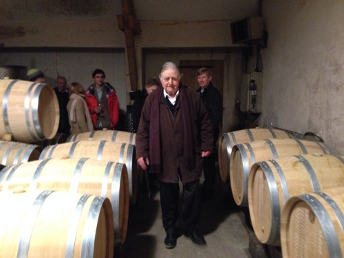M. Bordeaux-Montrieux, current owner and descendant of Paul Thenard.