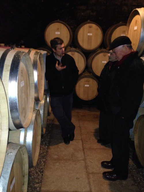 Romain Taupenot with Ann and Harry Santen at Domaine Taupenot-Merme.