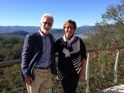 Tim Mondavi, Continuum winery, and Kathy Merchant at the Pritchard Hill Premiere Preview Party