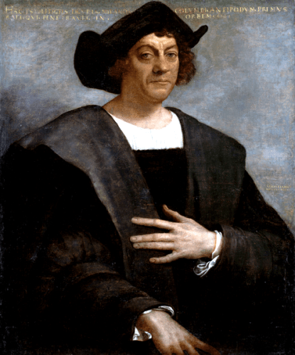 Portrait of Christopher Columbus by Sebastiano del Piombo (1485-1547) and is in the public domain due to its age