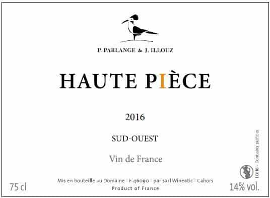 Cuvée Haute-Pièce 2016 de Jérémie Illouz