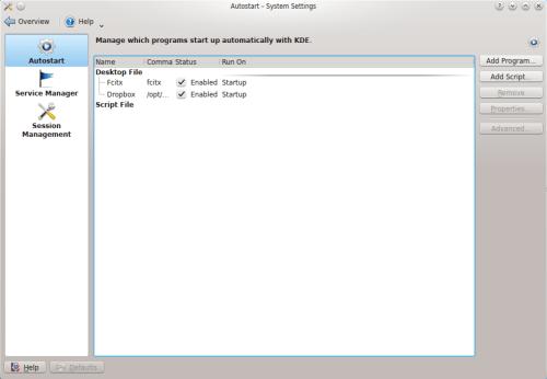 Autostart Editor