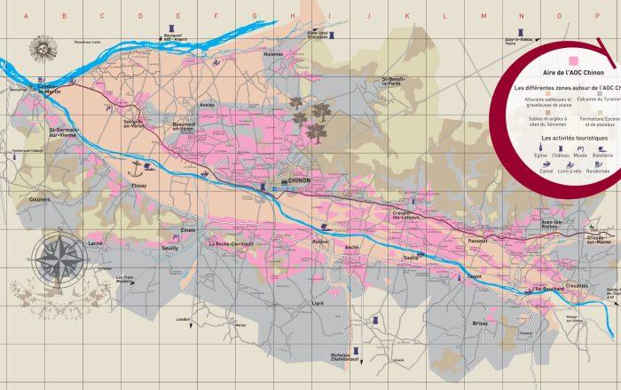le territoire de l'appelation Chinon