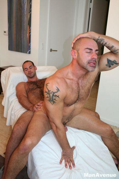 Girth Brooks fuck CJ Madison gay hot daddy dude porn Man Avenue