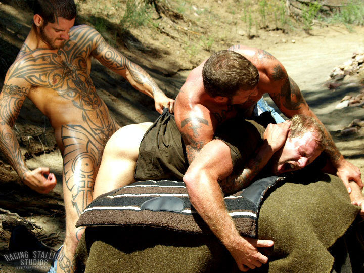 Logan McCree Ricky Sinz fuck Scott Tanner gay hot daddy dude men porn To The Last Man