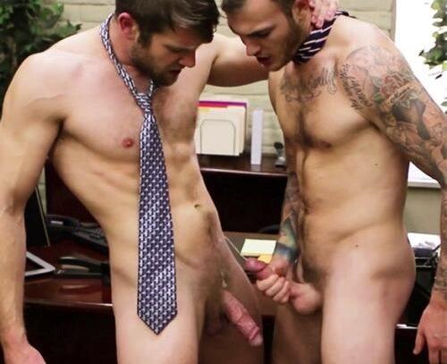 Christian Wilde fuck Colby Keller gay hot daddy dude men porn Gay Office