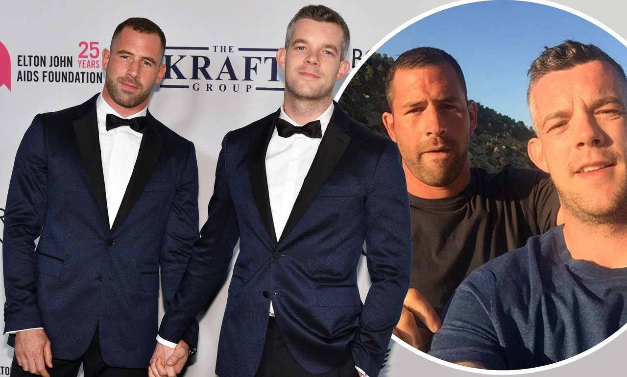 Ryan Stack (Steve Brockman) with Russell Tovey