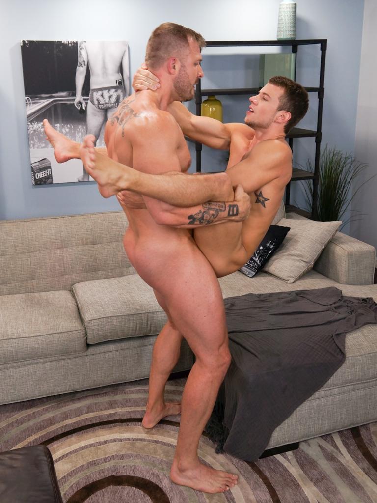 Austin Wolf fucks Brett Swanson gay hot daddy dude men porn Randy Blue