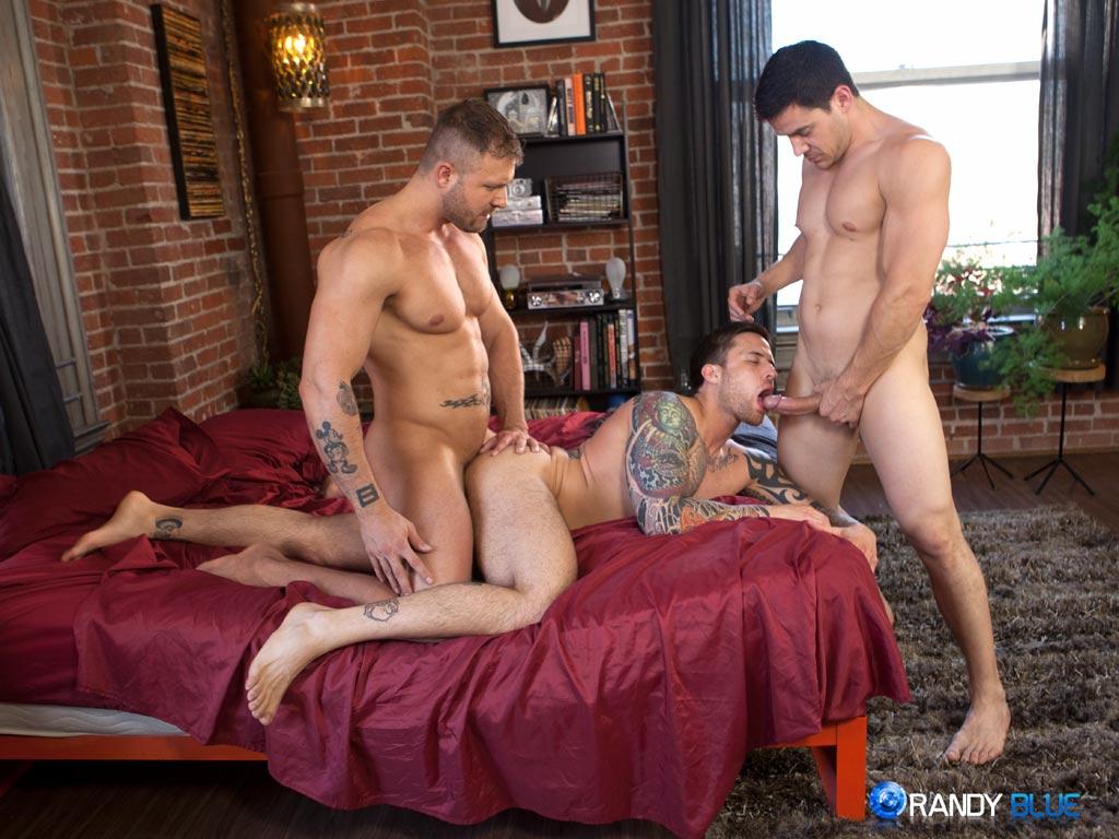 Austin Wolf Jordan Levine Chris Rockway gay hot daddy dude men porn randy blue