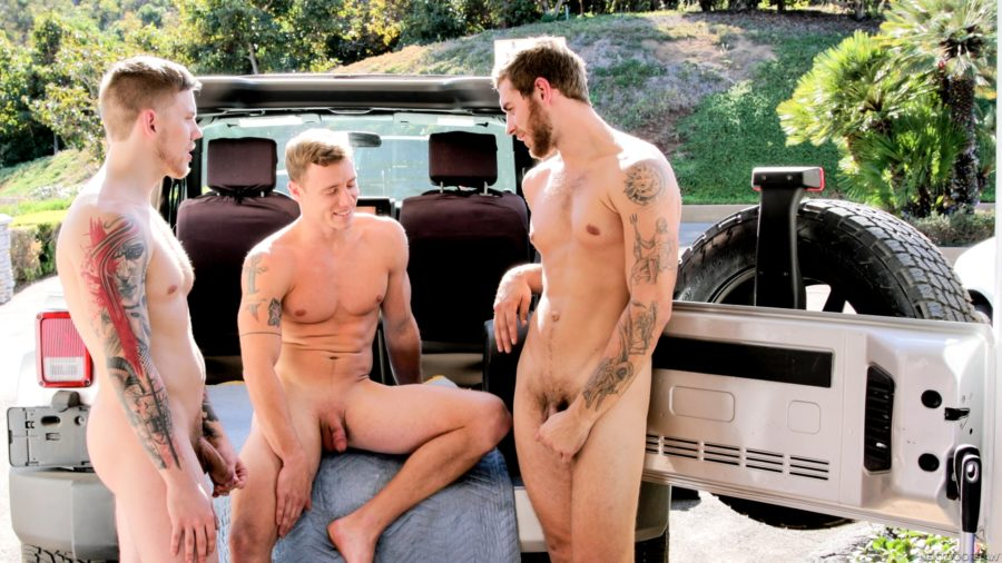 Carter Woods Justin Matthews Steve Rickz Greasy Tune Up gay hot daddy dude men bareback fuck porn