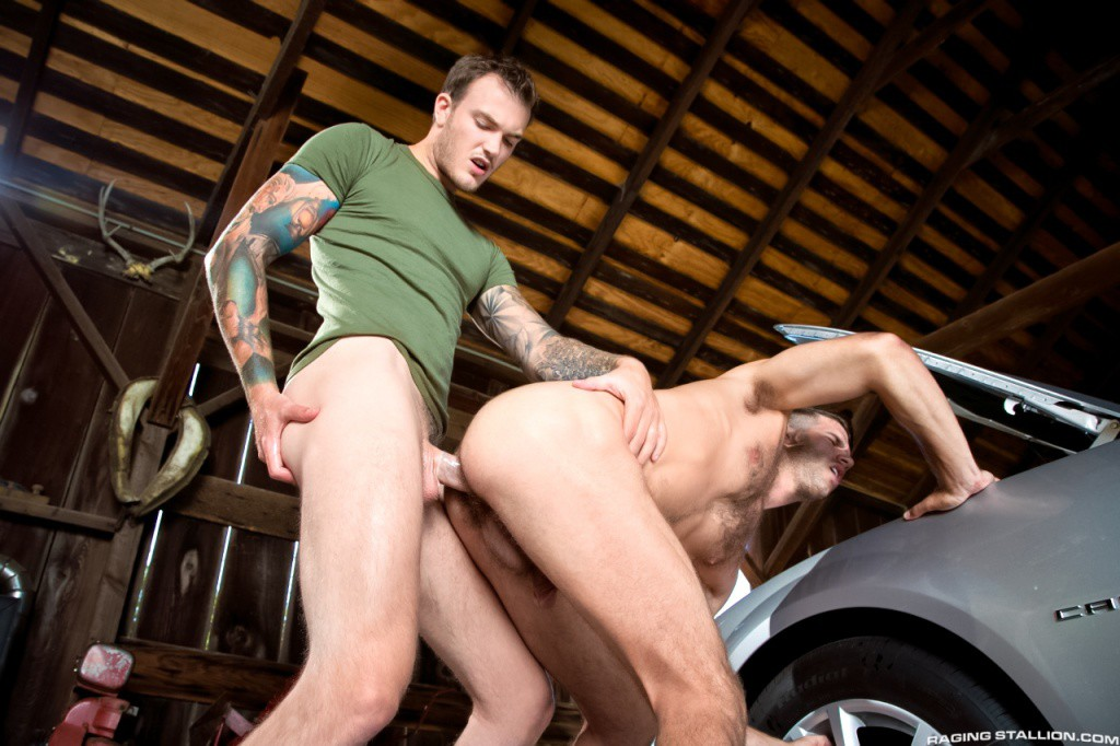 Christian Wilde fuck Jimmy Fanz gay hot daddy dude men porn Open Road