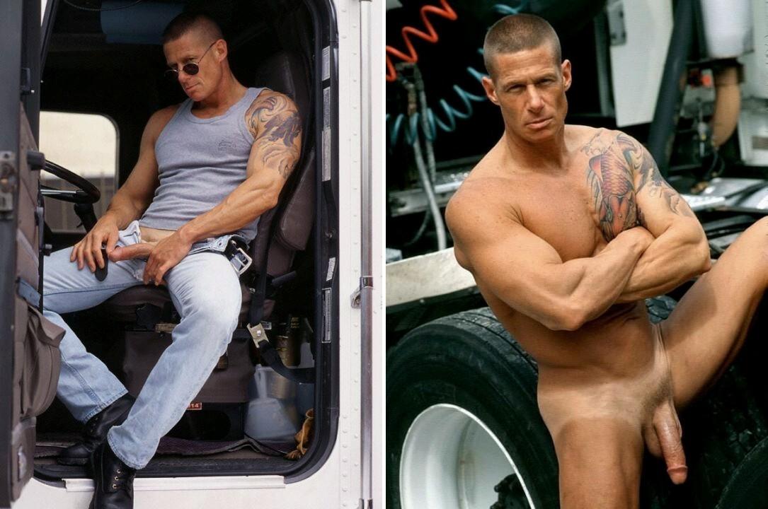 Cole Tucker gay hot daddy dude men trucker porn
