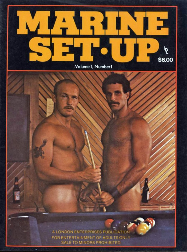 Clay Russell fuck Butch McAlister vintage gay hot daddy dude men porn Marine Set-up