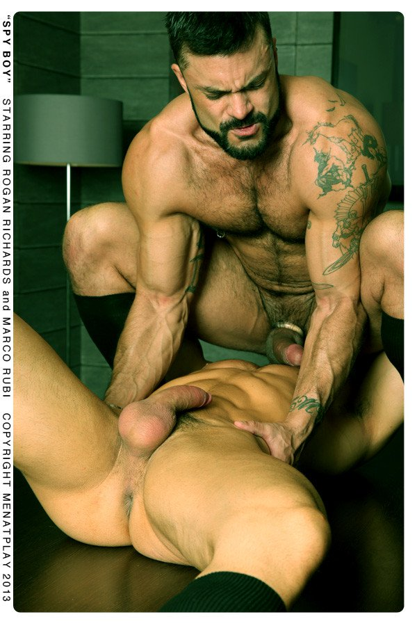 Rogan Richards fuck Marco Rubi gay hot daddy men porn (Spy Boy)