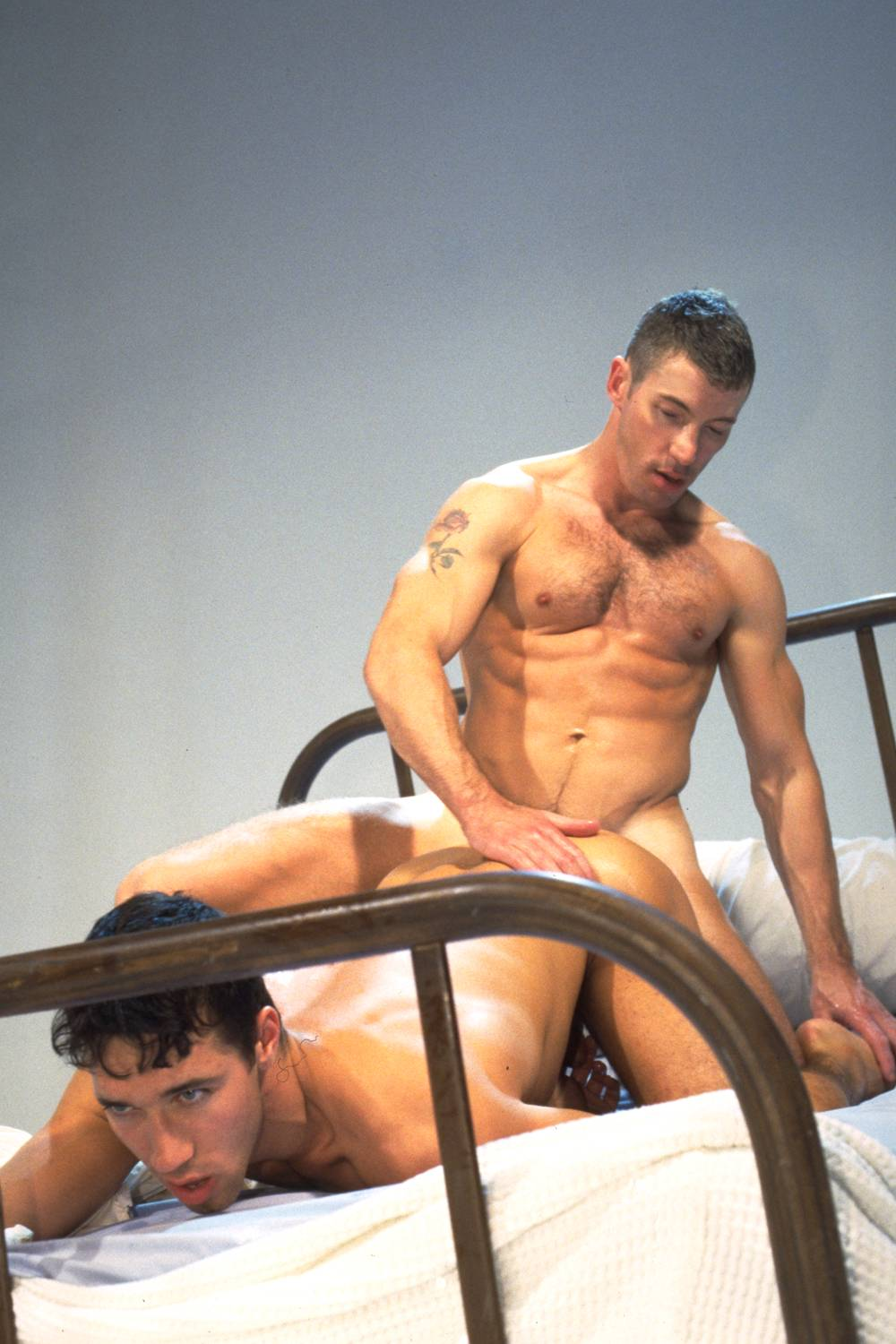 Aiden Shaw fuck Marcus Iron gay hot daddy dude porn Descent
