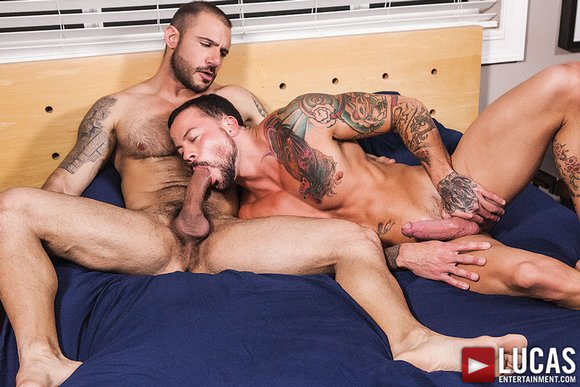 Pedro Andreas fuck Sean Duran gay hot daddy dude porn Ink Sweat Cum