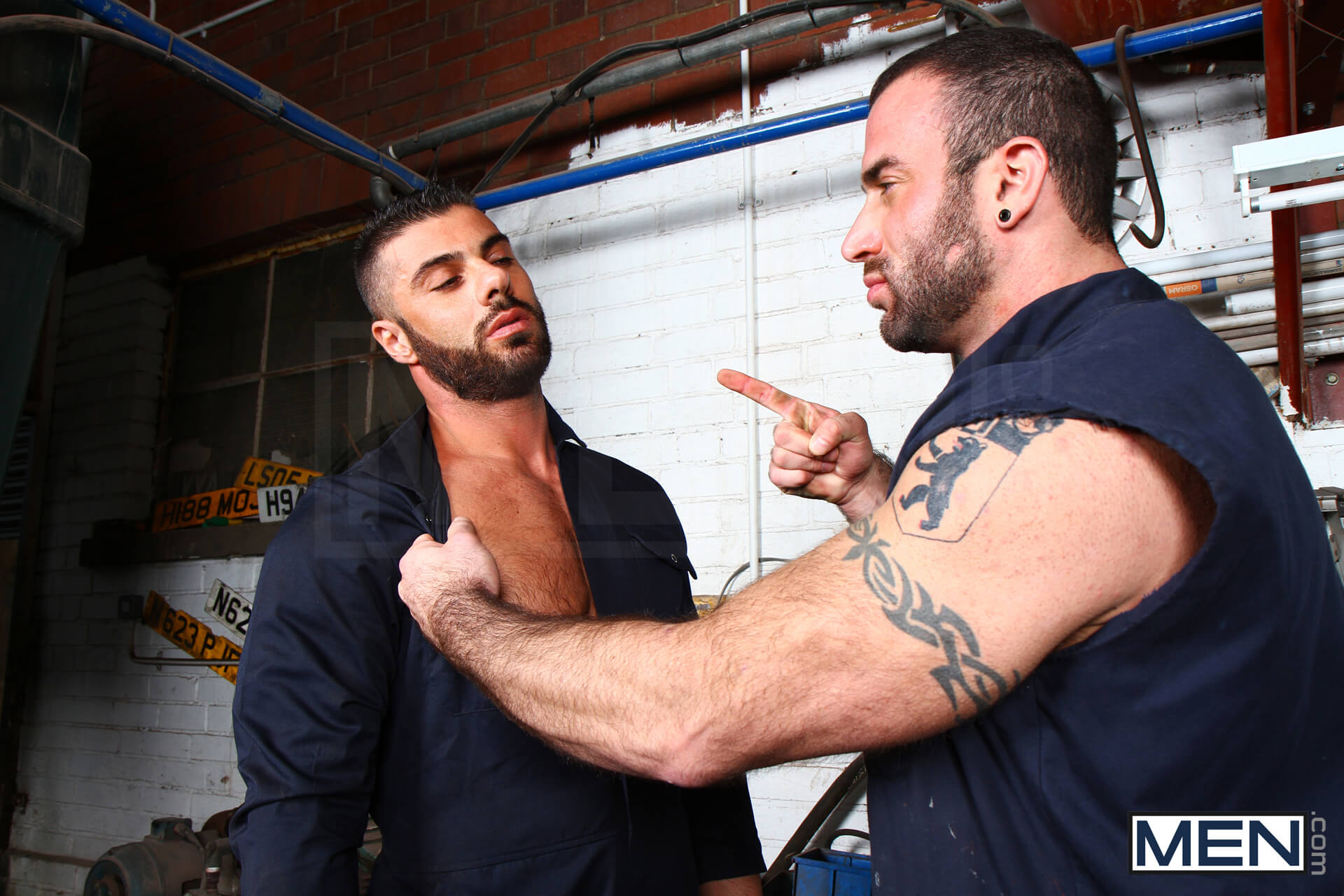Spencer Reed fuck Alex Marte gay hot daddy dude men porn Late for Work