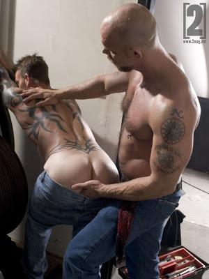 Colin West Jake Deckard flip fuck gay hot daddy dude men porn 2Mag