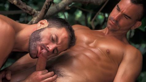 Brad Michaels fuck Adriano Marquez gay hot daddy dude men porn island guardian
