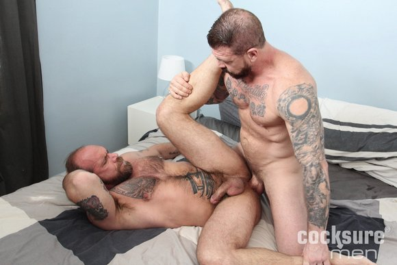 Rocco Steele fuck bareback Jake Deckard gay hot daddy dude men porn Cocksure Men