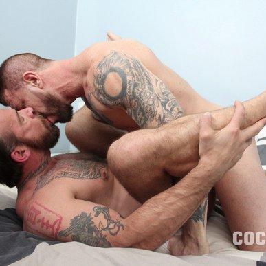 Rocco Steele fuck bareback Jake Deckard gay hot daddy dude men porn Cocksure Men