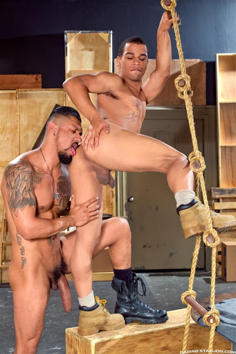 Boomer Banks fuck Trelino gay hot daddy dude men porn Size Matters