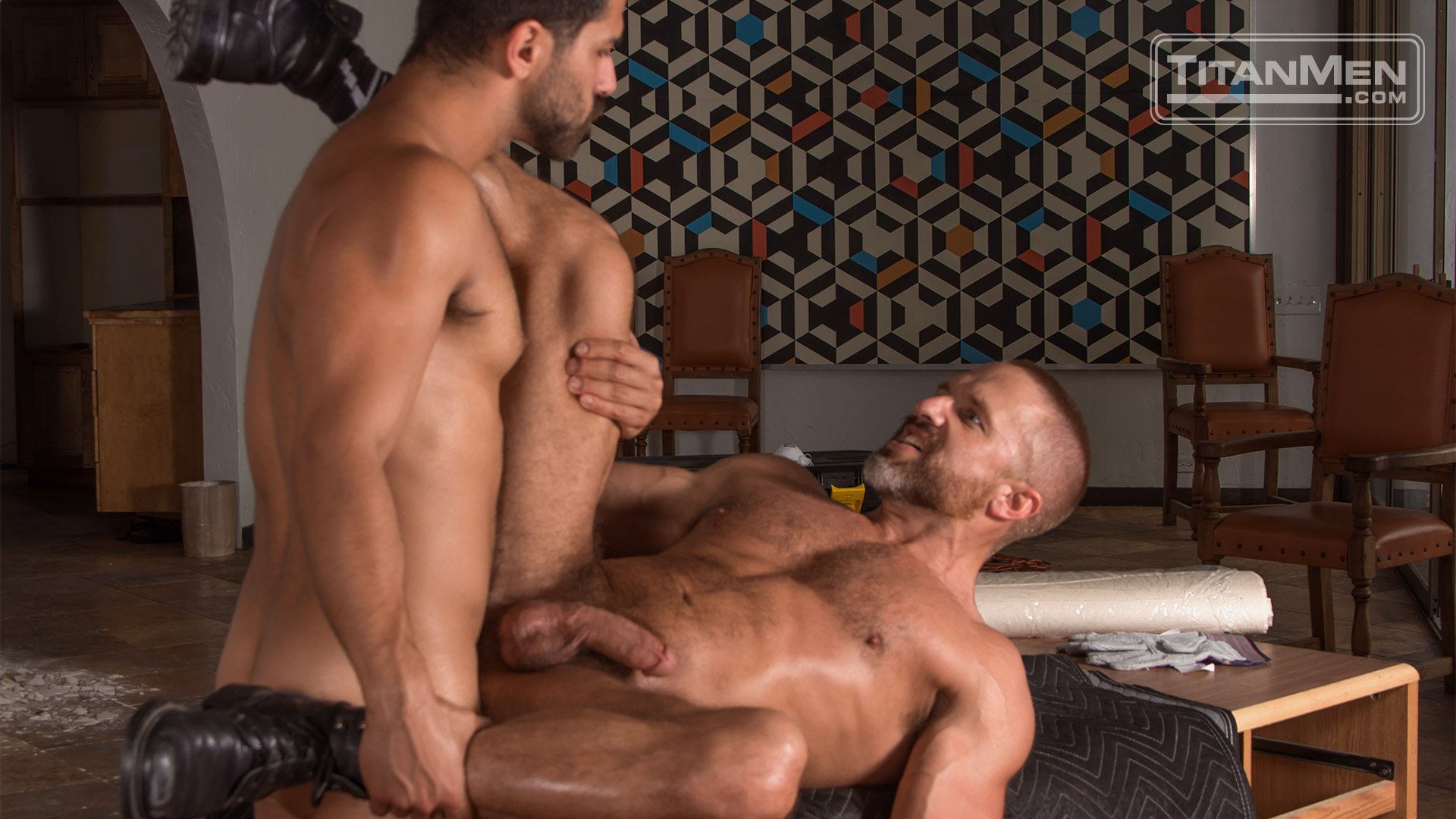 Adam Ramzi flip-fuck Dirk Caber gay hot daddy dude men porn Demolition