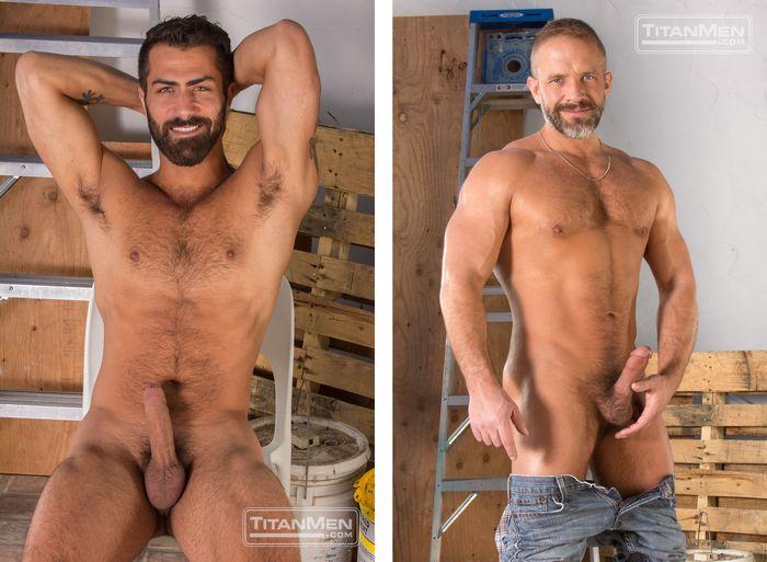 Adam Ramzi flip-fuck Dirk Caber gay hot daddy dude men porn Blueprint